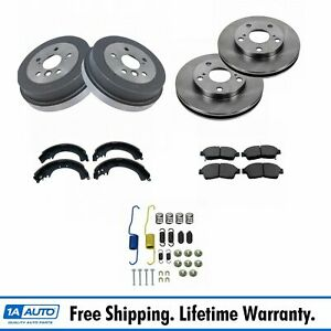 Front Rear Disc Brake Pad Rotor Drum Shoe Hardware Kit For Toyota Camry
