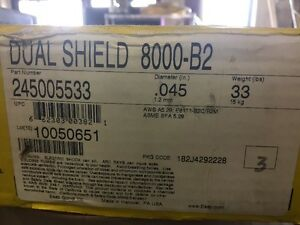 Esab Dual Shield 8000 b2 Welding Wire 045 E81t1