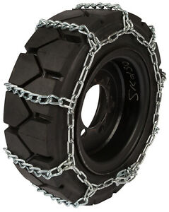 14x17 5 Skid Steer Tire Chains 8mm Link Loader Bobcat Snow Ice Traction