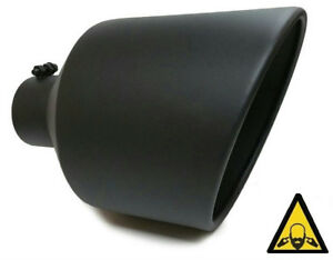 High Temperature Black Diesel Bolt On Exhaust Tip 4 Inlet 10 Out 15 Long