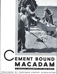 Brochure Cement Bound Macadam Road Construction Paving Material C1939 e3354
