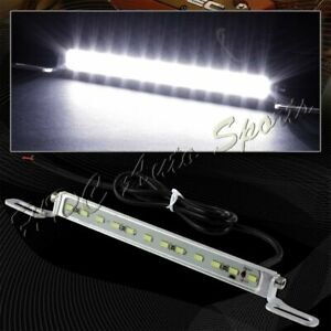 Xenon White 7000k 12 Led Smd Bolt On Car Truck Chrome License Plate Light Lamp