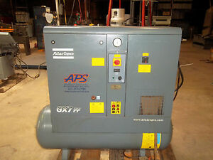 Atlas Copco Gx7ff Screw Air Compressor 10 Hp