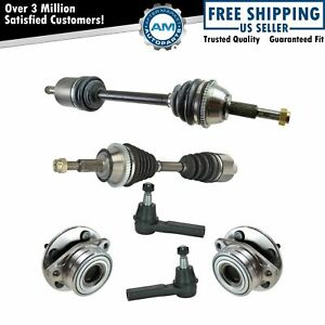 Front Cv Axle Shafts Wheel Hub Assemblies Outer Tie Rod Ends Set Of 6 For Ford