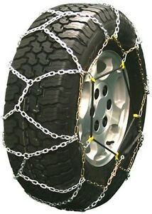 255 75 16 255 75r16 Diamond Back Tire Chains 3 7mm Link Bungee Adjuster Lt Truck