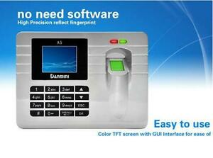 Fingerprint Recording Attendance Clock Time Card Machine 2 4 Tft Lcd Display