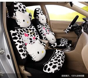 New Hello Kitty Car Seat Covers Cushion Accessories Set 18pcs Tl 5121