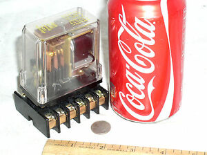 Nos New Struthers Dunn 219abap Relay 12vdc Coil 10a 120v 4 Pole With Socket Usa