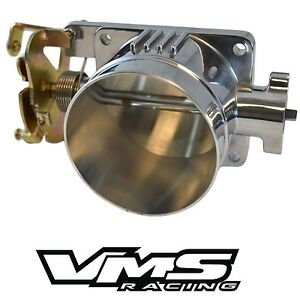 Vms Polished Throttle Body 75mm 75 Mm 96 04 Ford Mustang Gt 4 6l Sohc Direct Fit