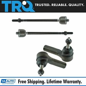 4 Piece Kit Inner Outer Tie Rod End Lh Rh Set Of 4 For Escape Tribute Mariner
