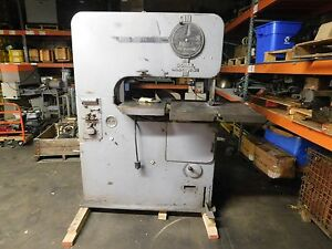 Doall 1 5 Hp Vertical Band Saw V 36 With Power Feed
