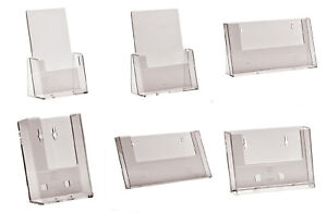 Counter Standing Wall Mounted Leaflet Holders Business Card Dispenser Plastic