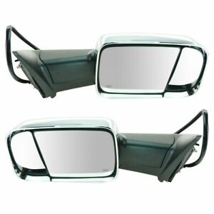 Trail Ridge Towing Mirror Power Folding Heated Memory Signal Chrome Pair For Ram