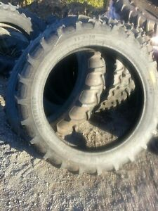 Two New 11 2x38 Irrigation Lug A B John Deere Farmall Tractor Tires
