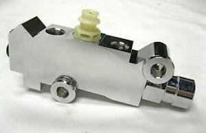 Chrome Gm Disc Drum Brake Proportioning Valve Master Cylinder Booster Universal