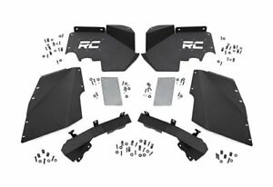 Rough Country Front Inner Fender Liner Kit black Jeep Wrangler Jk 1195