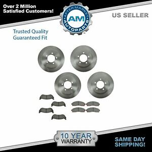 Nakamoto Front Rear Premium Posi Ceramic Brake Pad Rotor Kit For Ford Suv