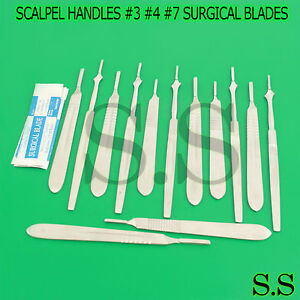 90 Scalpel Handles 3 4 7 1000 Sterile Surgical Carbon Steel Blades
