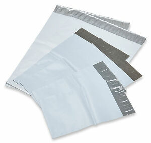1000 7 5x10 5 White Poly Mailers Shipping Tear proof Envelopes 2 4 Mil 7 5 x10