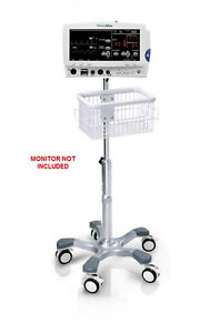 Rolling Stand For Welch allyn Atlas 6200 Patient Monitor New big Wheel