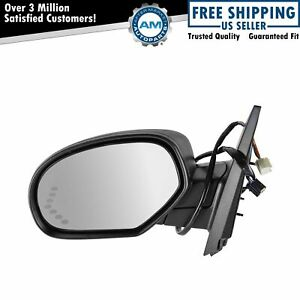 Mirror Power Folding Heated Signal Puddle Memory Textured Black Left Lh For Gm