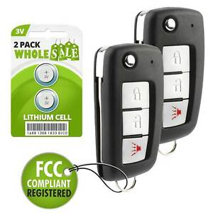 2 Replacement For 2005 2006 2007 2008 2009 Nissan Pathfinder Flip Key Fob