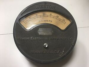 Vintage Weston Electrical Instrument Co Voltmeter Model 57 0 130v