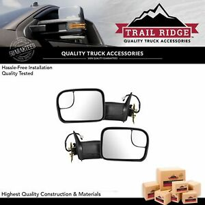 Trail Ridge Tow Mirror Power Heated Upgrade Signal Textured Pair For Dodge Ram