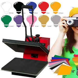 Digital Heat Press Machine 15 X 15 10 Sheets Heat Transfer Vinyl Sublimation