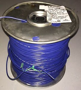 Tew 1015 1230 Deca Mtm Blue Insulated Copper Wire 300m 20awg Cables