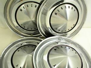 1962 1963 Mercury Hubcaps Wheel Cover 14 Set Of 4