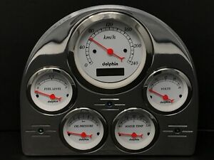 1952 1953 Ford Car Gauge Cluster Metric