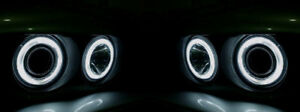 dot Approved Angel Halo Xenon Look Headlights For 1983 1987 Bmw E30 3 series
