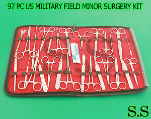 97 Pc O r Us Military Field Minor Surgery Surgical Veterinary Dental Inst Kit