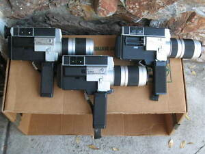 3 canon 1014 electronic super 8 movie film
