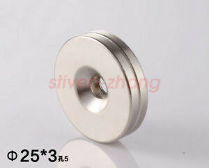 5 50pcs 25 X 3 Hole 5mm N50 Round Countersunk Rare Earth Neodymium Magnets