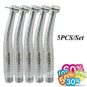 5 Pcs set Ceramic Turbine Led Light High Speed Dentist Use Handpiece Standard Ca