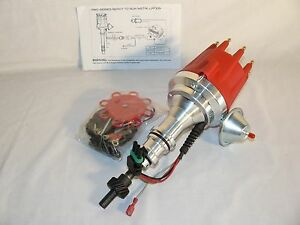 Sbf Sb Ford 260 289 302 Pro Billet Ready To Run Electronic Distributor Red Cap