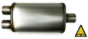 Performance Muffler Center 2 5 Inlet 2 5 Dual Outlet Universal