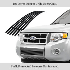 Fits 2008 2012 Ford Escape Stainless Steel Black Billet Grille Insert