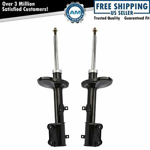 Rear Shock Struts Left Right Pair Set New For Toyota Corolla Prizm