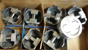 400 Chevy Forged Pistons 030 Over Dish Turbo 4 Reliefs Set Of 8 L2376f Trw