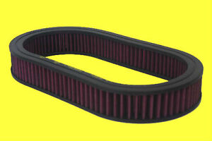 15x2 Oval Washable Air Cleaner Filter Breather Reusable Oiled Fits Ford Chevy