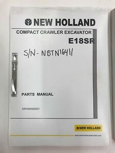 New Holland E18 Excavator Parts Manual not A Copy