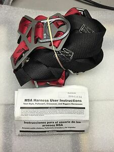 Msa 10041612 Technacurv Safety Harness Vest Style Pullover Riggers X large New