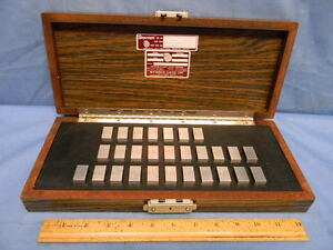 Starrett Webber Ssa1 28 piece Steel Inch Gage Block Set 0 5579 To 0 5606