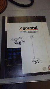 Allmand Light Tower Operator And Parts Manual not A Copy
