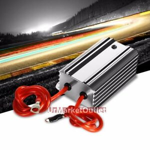 Silver Universal High Efficiency Car Voltage Battery Cable Stabilizer Regulator