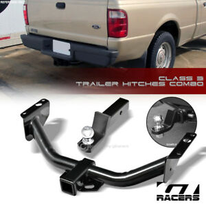 Class 3 Trailer Hitch Receiver W 2 Ball Bumper Mount For 1983 2011 Ford Ranger