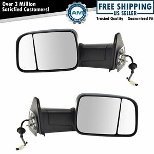 Flip Up Tow Mirror Upgrade Power Folding Led Marker Textured Black Pair For Ram